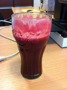 Fresh Juice in a Coke Glass