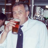 My Dad enjoying a pint