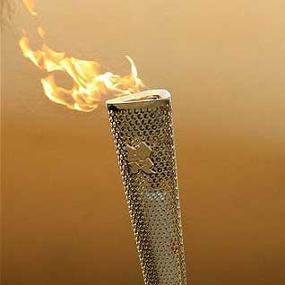 Olympic Torch Without Beer
