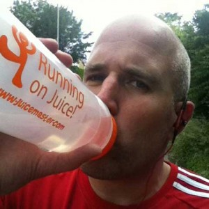 Running on Juice with Juicemaster water bottle