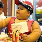 Fat kid eating McDonalds