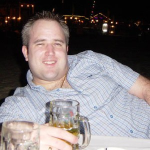 Fat Me Drinking a Pint in Thailand