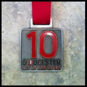 Gloucester 10 Finishers Medal