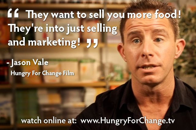 Jason Vale - They want to sell you more food! They're into just selling and marketing