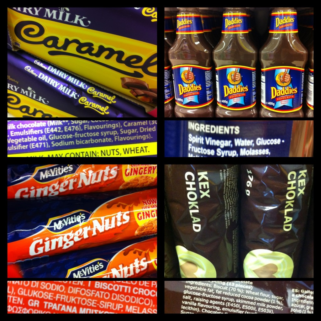Products containing glucose-fructose syrup