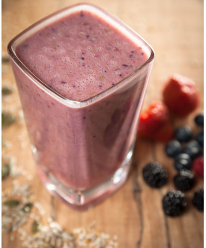 Berry Banana Crunch Smoothie