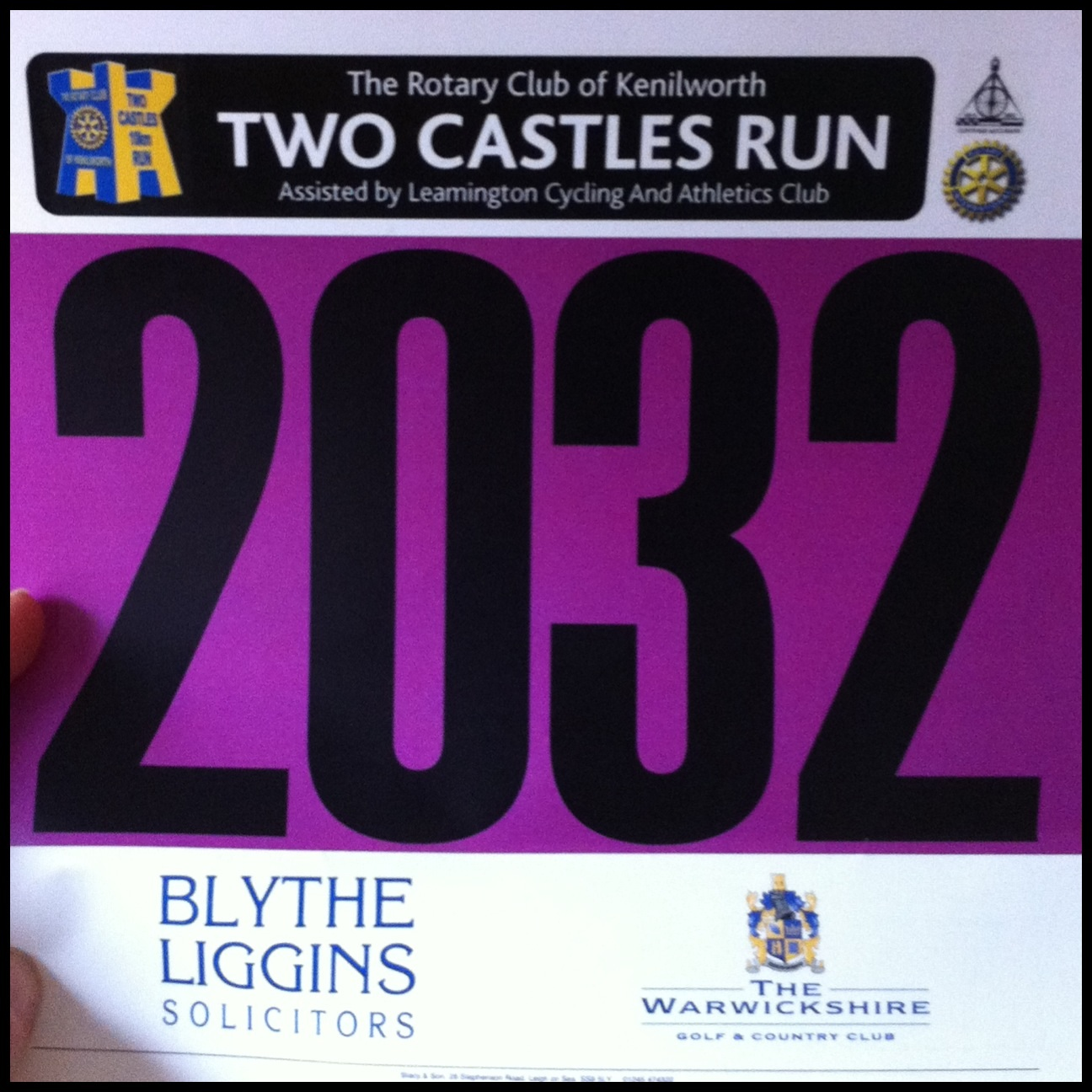 Next Race: Two Castles Run