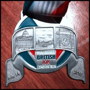 British 10k London Run Medal 2013