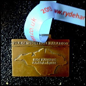 Isle of Wight Half Marathon Medal 2013