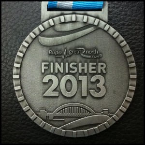Great North Run 2013 Medal