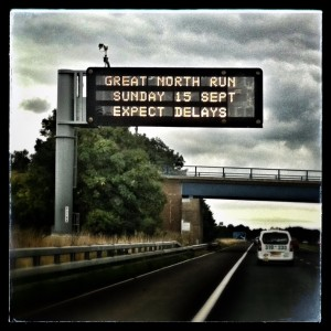Great North Run - Expect Delays