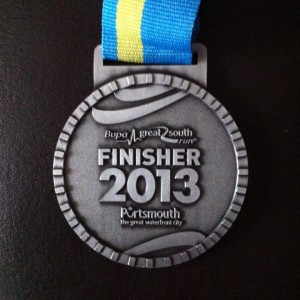 2013 Great South Run Finishers Medal